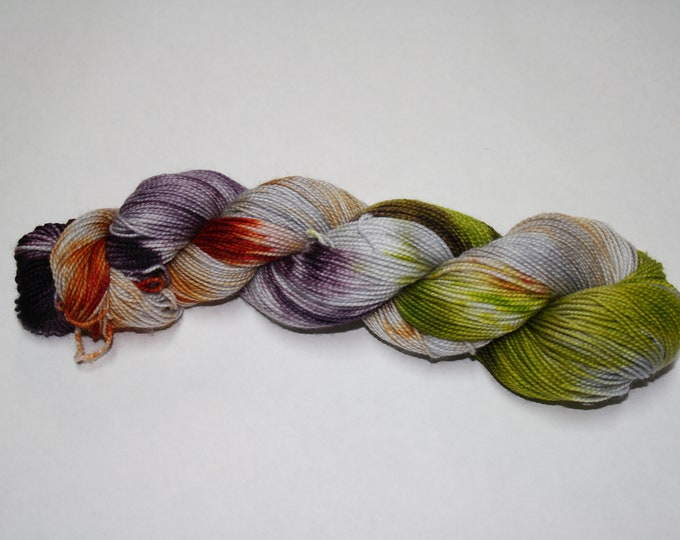 Ready to Ship - Haunted Hand Dyed Sock Yarn - Sparkle Singles
