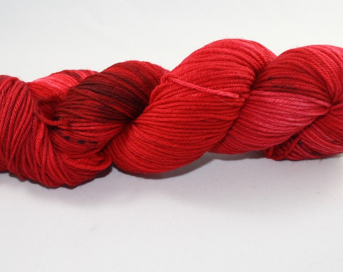 Ready to Ship - Male Cardinal Hand Dyed Sock Yarn - Tough DK