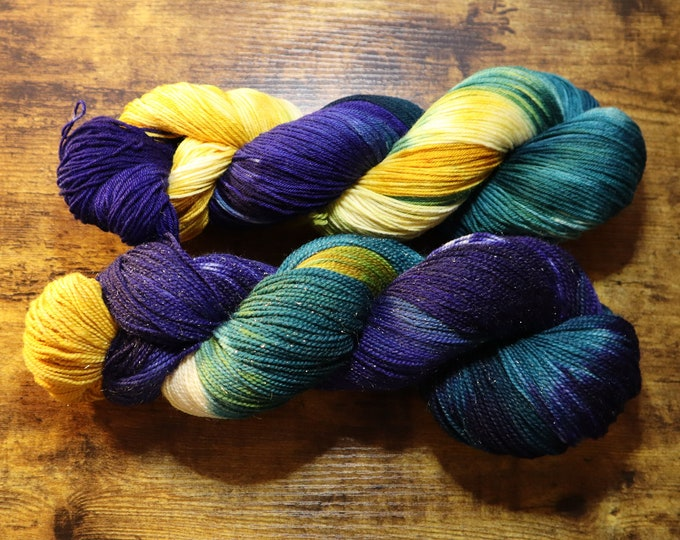 Ready to Ship - Catching Fireflies Hand Dyed Yarn
