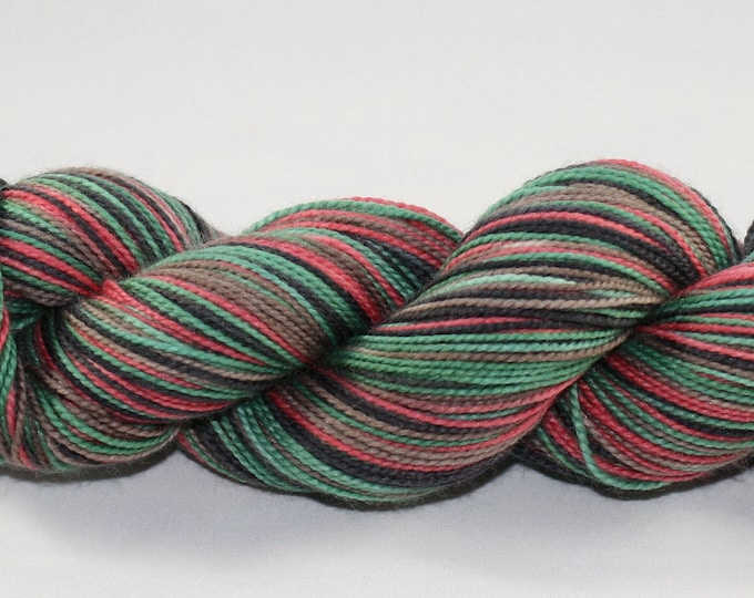 Ready to Ship - Krampus Self Striping Hand Dyed Sock Yarn - Twist Sock