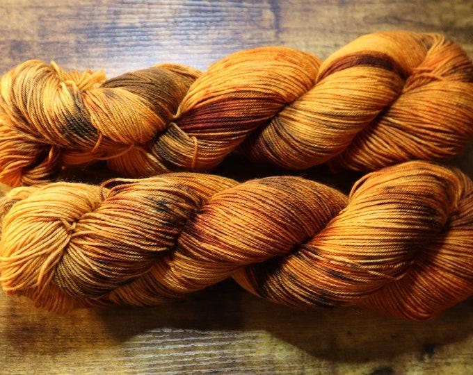 Ready to Ship - Pumpkin Spice Hand Dyed Yarn