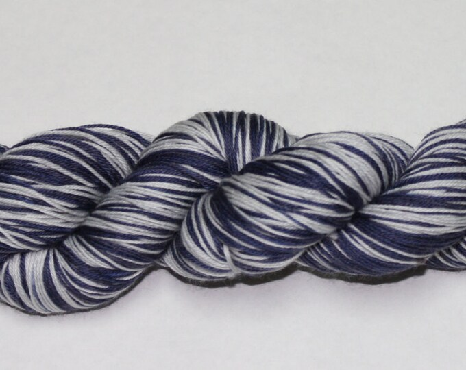 Wintery Night Self-Striping Hand Dyed Sock Yarn