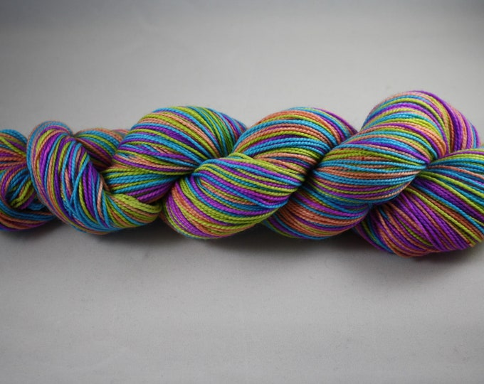 Spring Cheer Self Striping Hand Dyed Sock Yarn