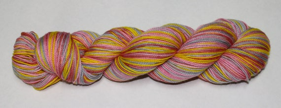 Ready to Ship - Winter Sunrise Self Striping Hand Dyed Sock Yarn - Tough Sock