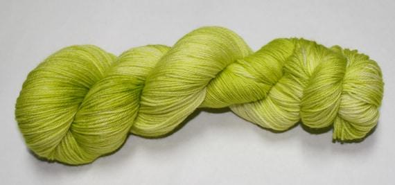 Ready to Ship - Celery Hand Dyed Sock Yarn - Soft Sock