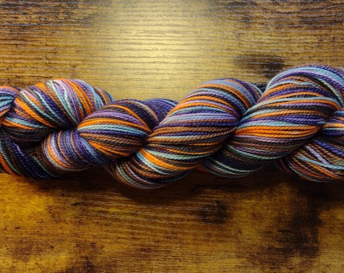 Ready to Ship - There's a Little Witch In All of Us Self Striping Sock Yarn
