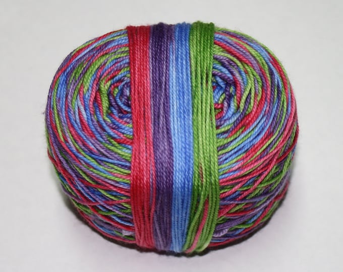 Dyed to Order - Zombies Gotta Knit Self Striping Hand Dyed Sock Yarn