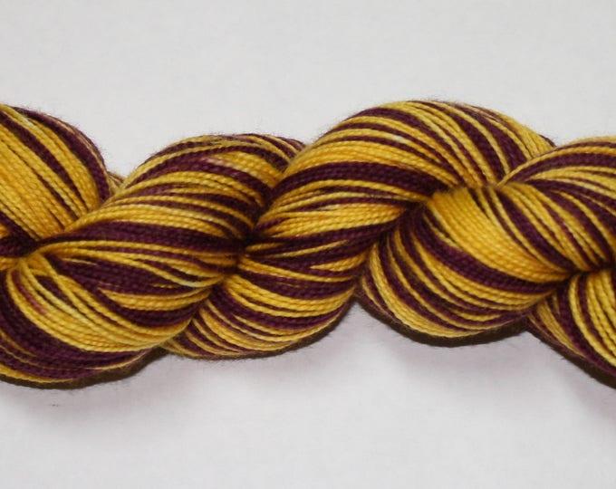 Dyed to Order - Gryffindor - Movie Self Striping Sock Yarn