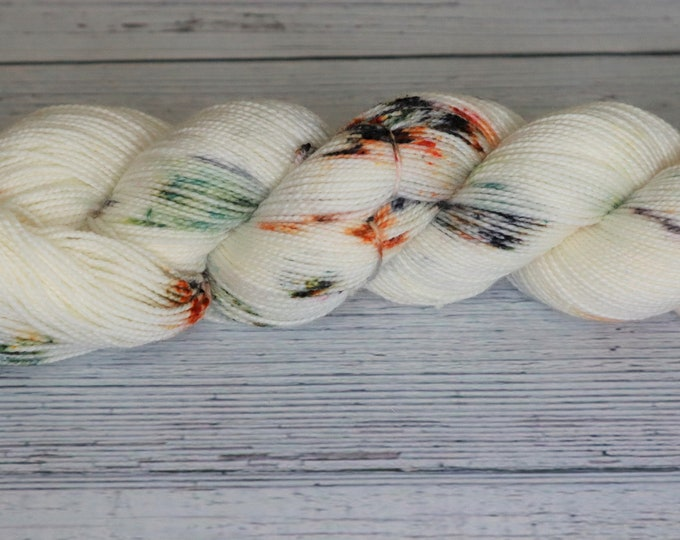 Ready to Ship - Vintage Halloween Speckle Hand Dyed Yarn