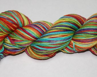 Dyed to Order - Be a Rainbow In Somebody Else's Cloud Self Striping Hand Dyed Sock Yarn