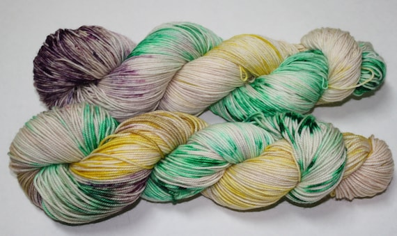 King Cake Hand Dyed Sock Yarn