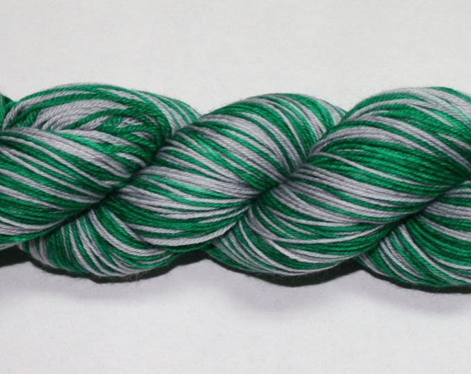 Dyed to Order - Slytherin Self Striping Hand Dyed Sock Yarn
