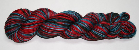Bah Humbug Self Striping Hand Dyed Sock Yarn