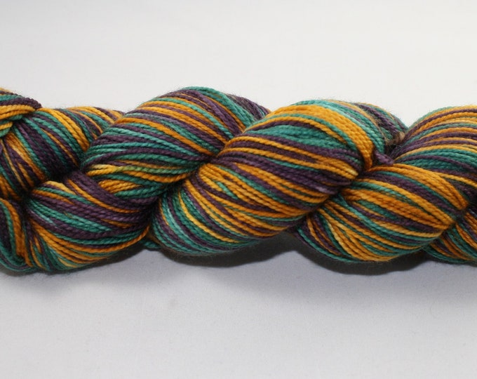 Dyed to Order - Regal Self-Striping Hand Dyed Sock Yarn
