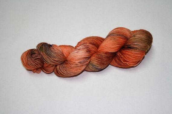 Pumpkin Patch Hand Dyed Sock Yarn