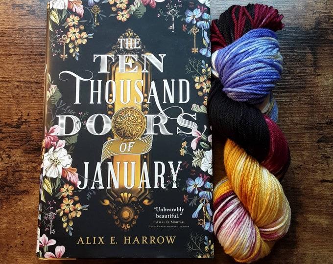 Ready to Ship - Doors of January  Hand Dyed Sock Yarn