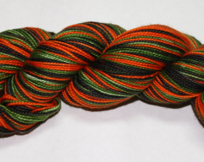 Ready to Ship - Vintage Halloween Self Striping Hand Dyed Sock Yarn - Twist Sock