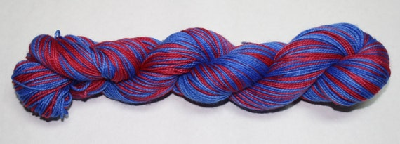 Anna Self Striping Hand Dyed Sock Yarn
