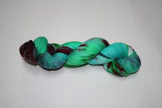 Naughty or Nice Hand Dyed Sock Yarn
