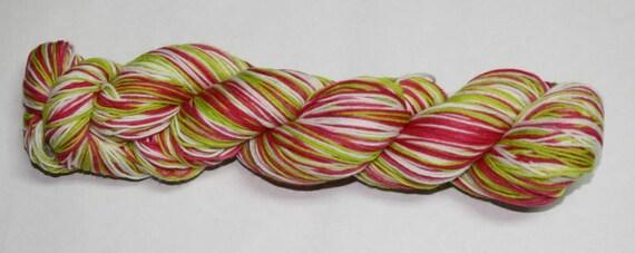 Holly Jolly Self Striping Hand Dyed Sock Yarn