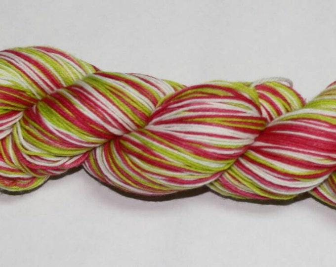 Ready to Ship - Holly Jolly Self Striping Hand Dyed Sock Yarn