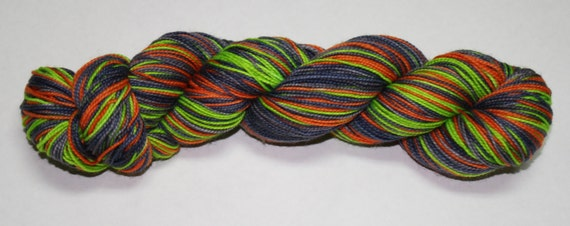 Witching Hour Self Striping Hand Dyed Sock Yarn