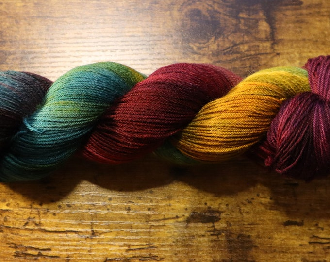 Dyed to Order - Zoom for the Holidays Hand Dyed Sock Yarn