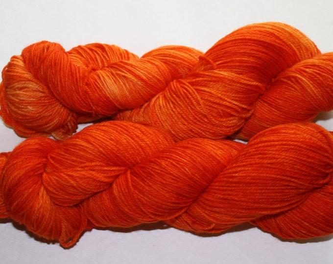 Dyed to Order - Make It Orange Hand Dyed Yarn