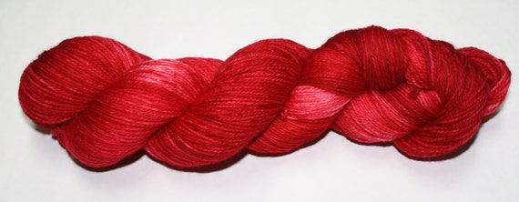 Tomato Hand Dyed Sock Yarn
