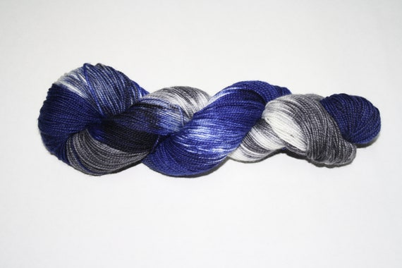 Angels Have the Blue Box Hand Dyed Sock Yarn