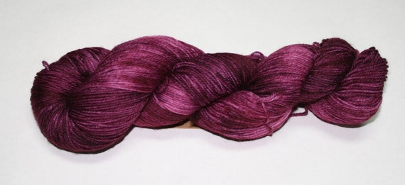 Plum Hand Dyed Sock Yarn