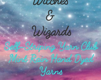 Witches & Wizards Self Striping Sock Yarn Club - September