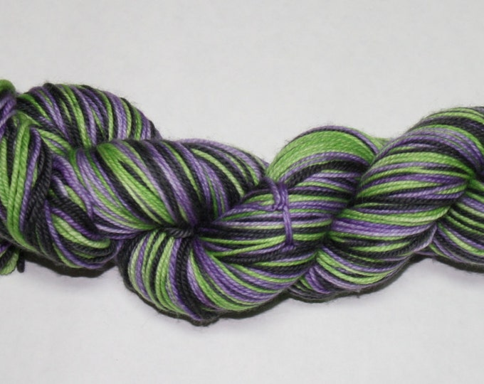Dyed to Order - Beetlejuice Self Striping Hand Dyed Sock Yarn