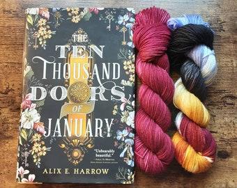 Ready to Ship - Doors of January Set Hand Dyed Sock Yarn
