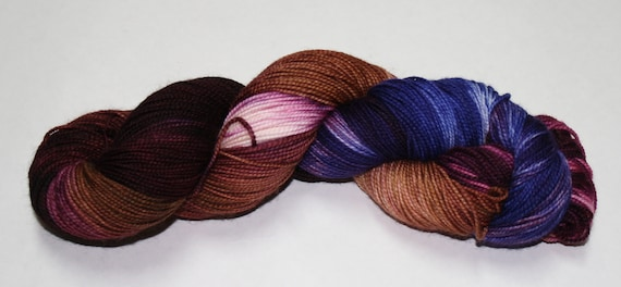 Bowties Are Cool Hand Dyed Sock Yarn