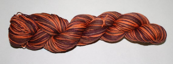 Pumpkin Spice Mocha Self-Striping Hand Dyed Sock Yarn