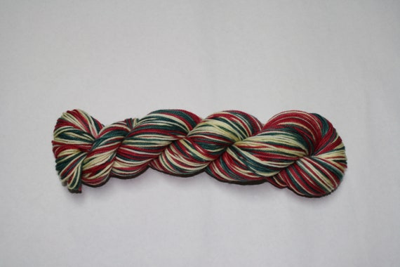 Home for the Holidays Self Striping Hand Dyed Sock Yarn