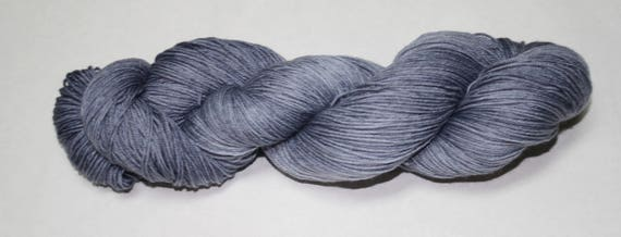 Grey Skies Hand Dyed Sock Yarn