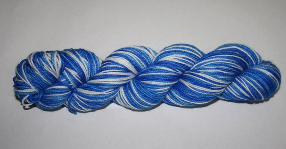 Hanukkah Self - Striping Hand Dyed Sock Yarn