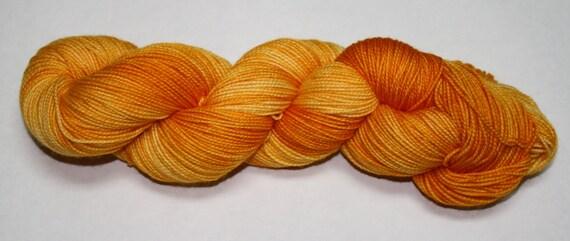 Ready to Ship - Squash Hand Dyed Sock Yarn - Soft Sock