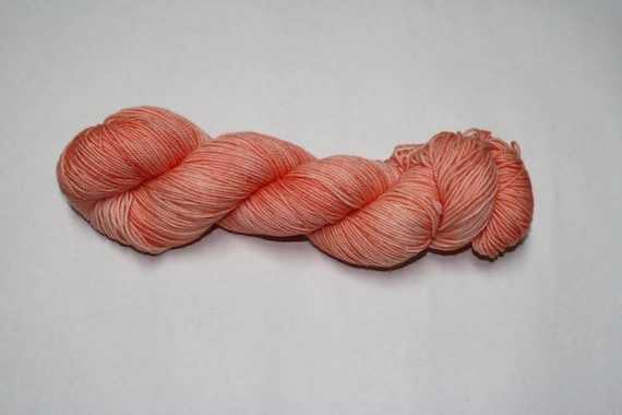 Coral Hand Dyed Sock Yarn