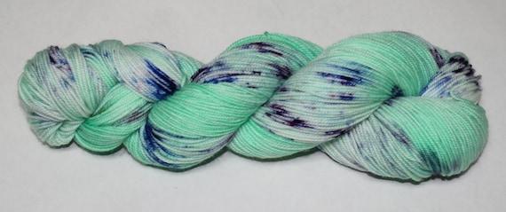 Mint Rain Hand Dyed Sock Yarn