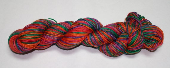 Ready to Ship - Sanderson Sisters Self Striping Hand Dyed Sock Yarn - Twist Sock