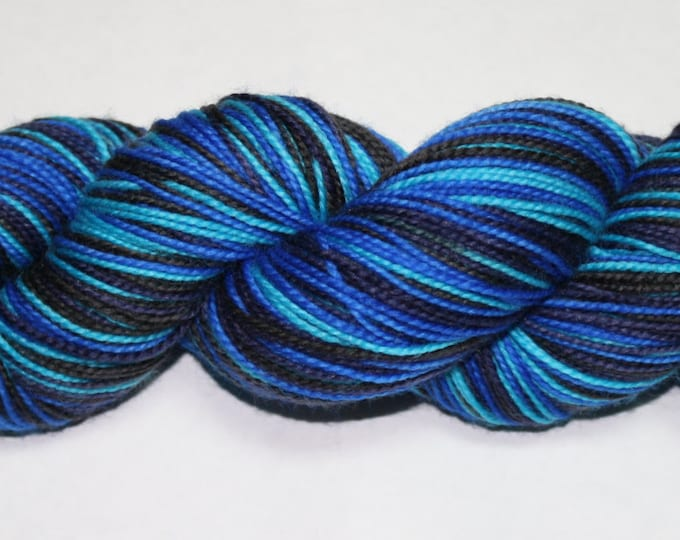 Dyed to Order - Depths of Space Self Striping Hand Dyed Sock Yarn