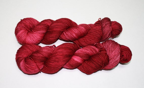 Black Cherry Hand Dyed Sock Yarn