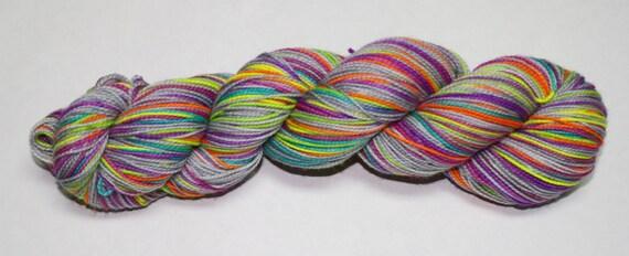 Make Me Smile Self Striping Hand Dyed Sock Yarn