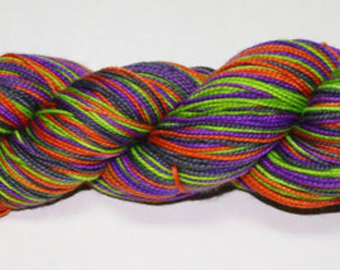 Dyed to Order - Witch's Britches Self Striping Hand Dyed Sock Yarn