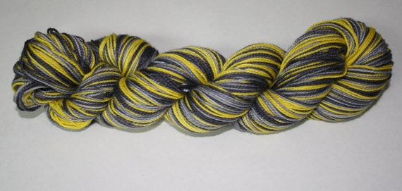 Batman Self - Striping Hand Dyed Sock Yarn