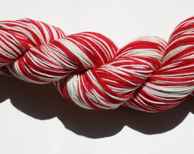 Dyed to Order - Red Wings Self Striping Hand Dyed Sock Yarn
