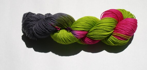 Zombie Love Hand Dyed Sock Yarn